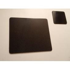 Carbon Fibre Coaster and Placemat set (4 of each)